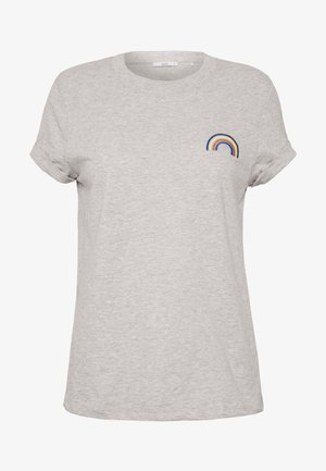 RAINBOW - T-shirt print - light grey