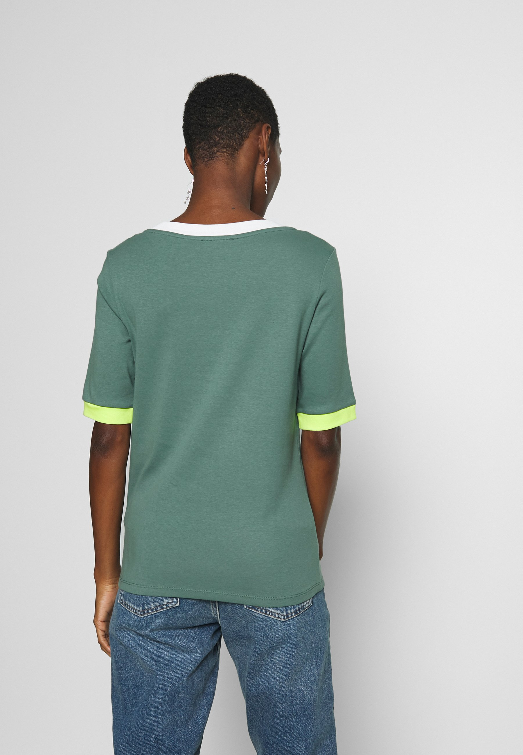 edc by Esprit T-shirts med print - khaki green