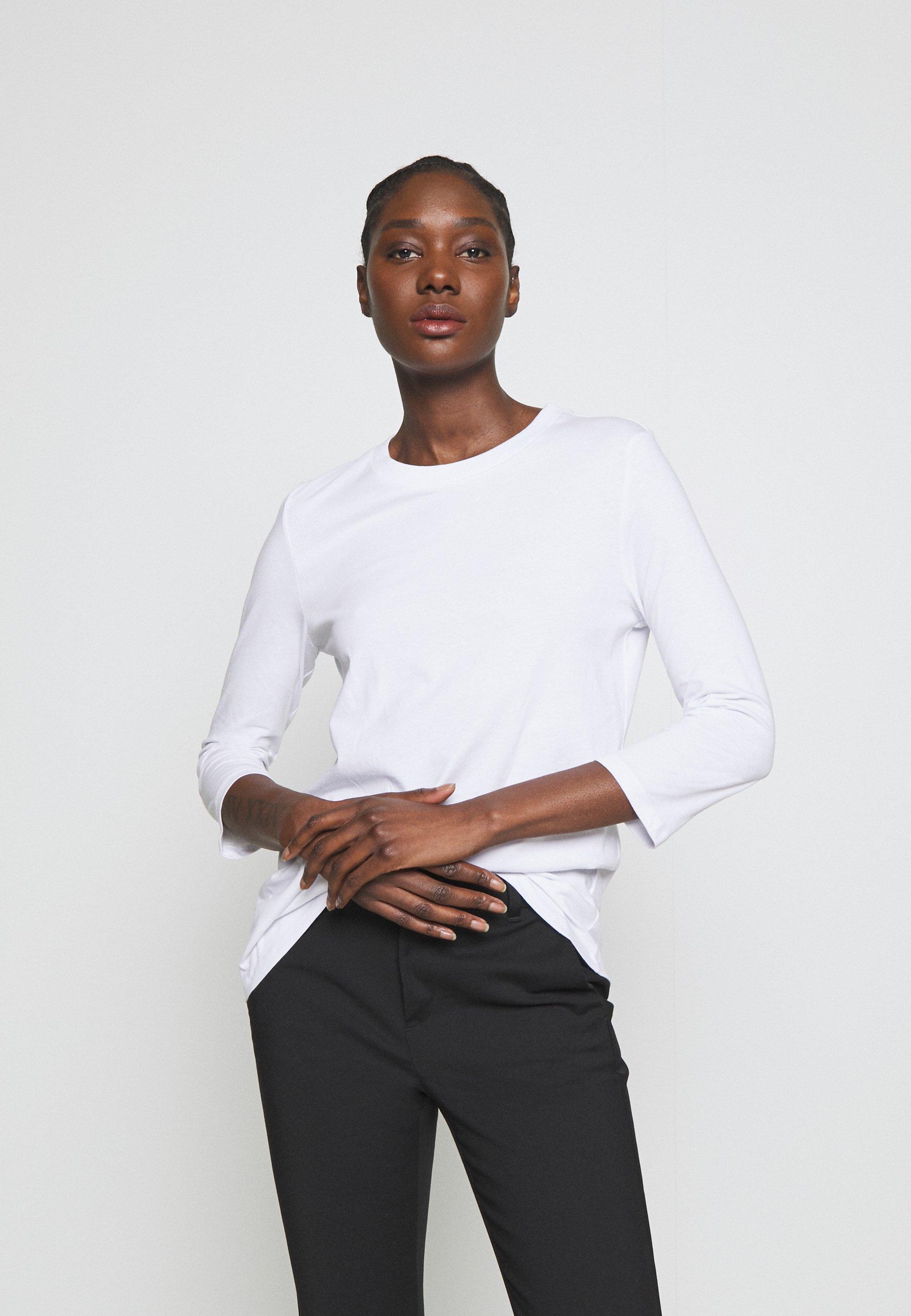 edc by Esprit RAINBOW TAP - Bluzka z długim rękawem - white