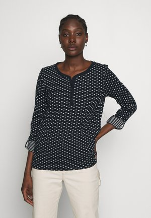 DOUBLE FACE - Long sleeved top - navy