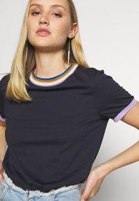 edc by Esprit - Print T-shirt - navy - 3
