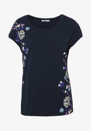 SHOULDER - Camiseta estampada - navy