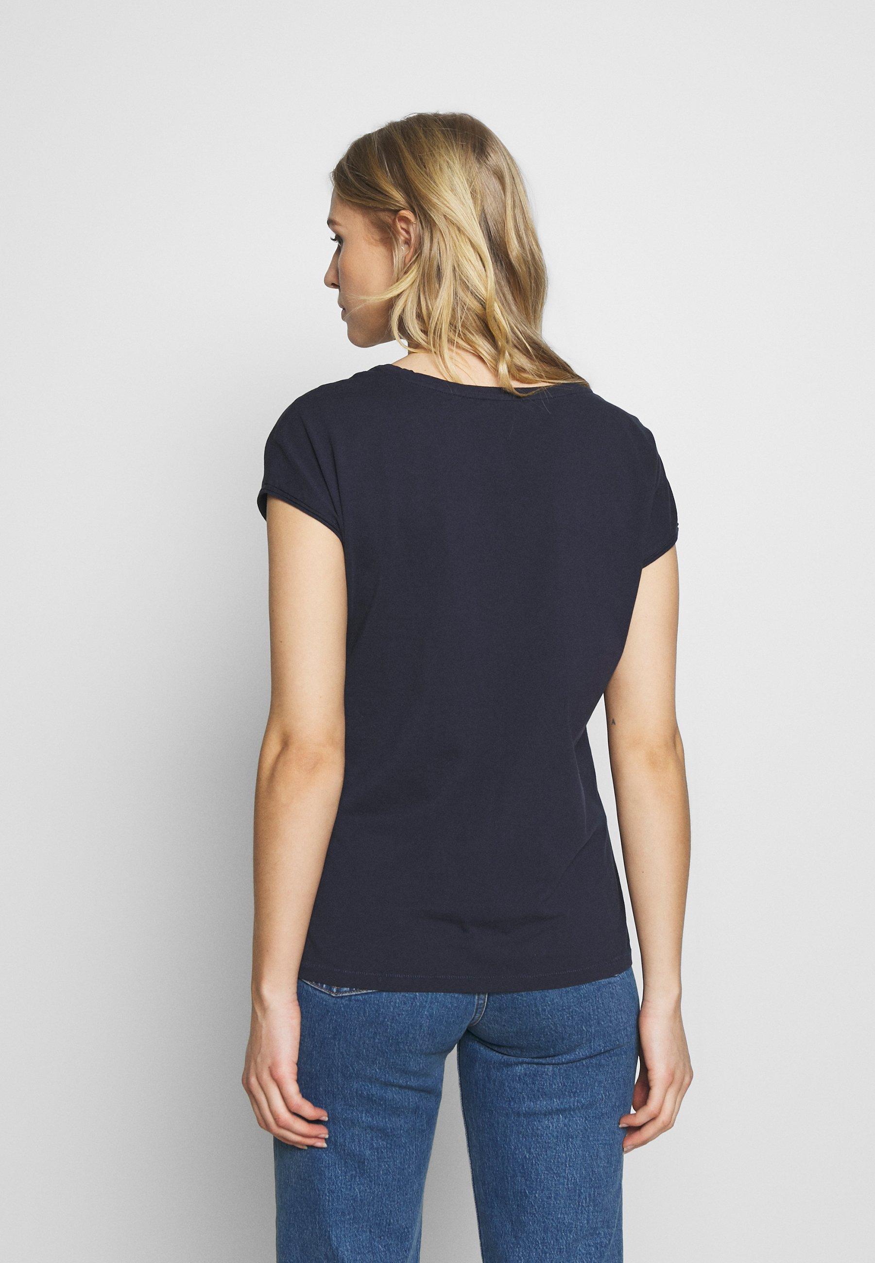 edc by Esprit SHOULDER - T-shirts med print - navy