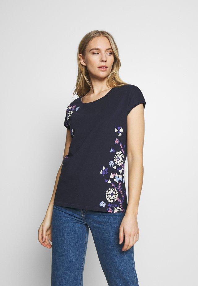 SHOULDER - T-shirt med print - navy