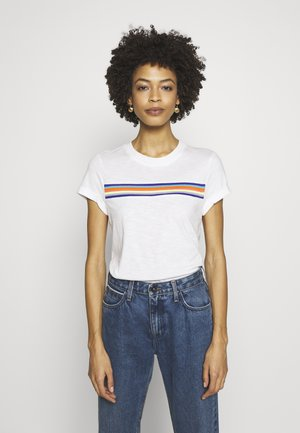RAINBOW TAPE  - Print T-shirt - offwhite