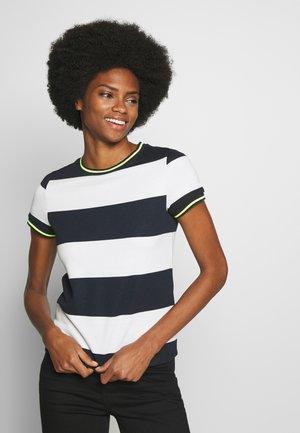 STRIPE TEE - T-shirts med print - navy