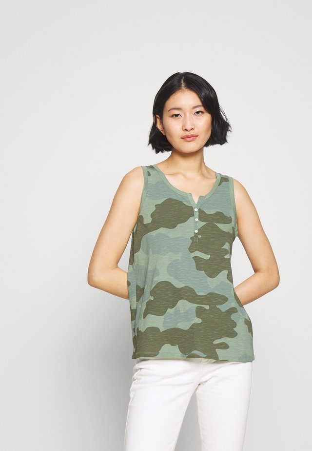 Top - khaki green