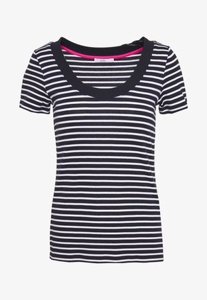 FLOW WIDE - T-shirt con stampa - navy
