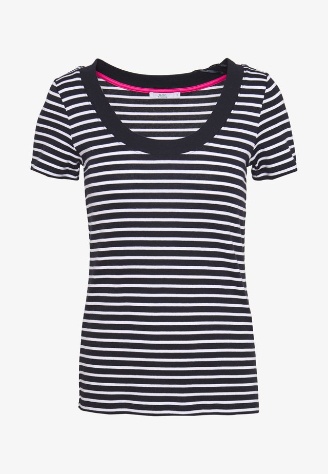 FLOW WIDE - T-shirts med print - navy