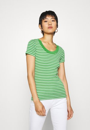 FLOW WIDE - T-shirts med print - green