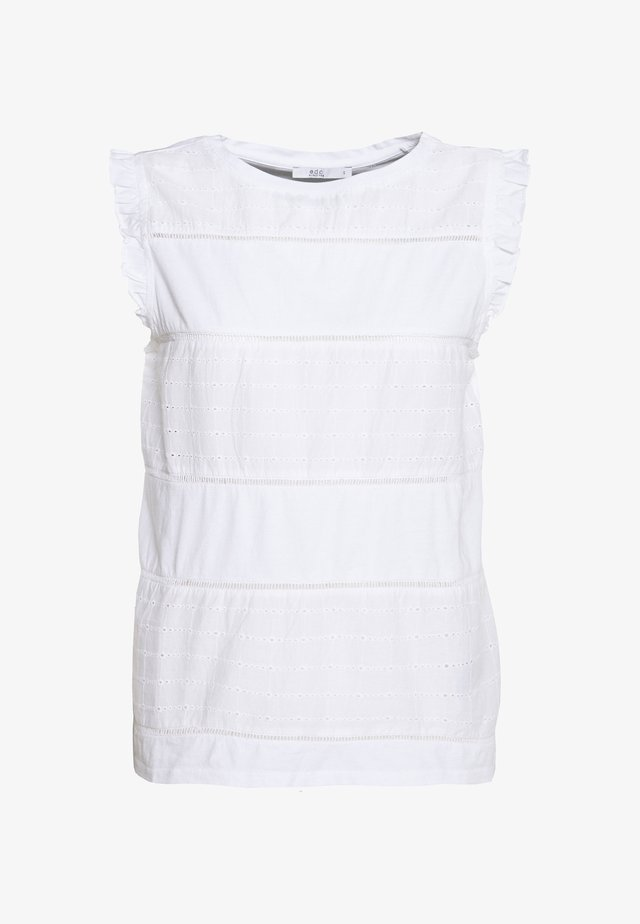 FRONT TEE - Bluse - white