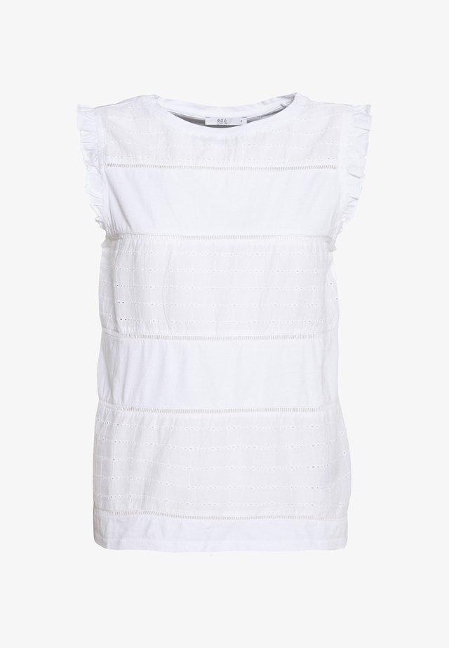 FRONT TEE - Blusa - white