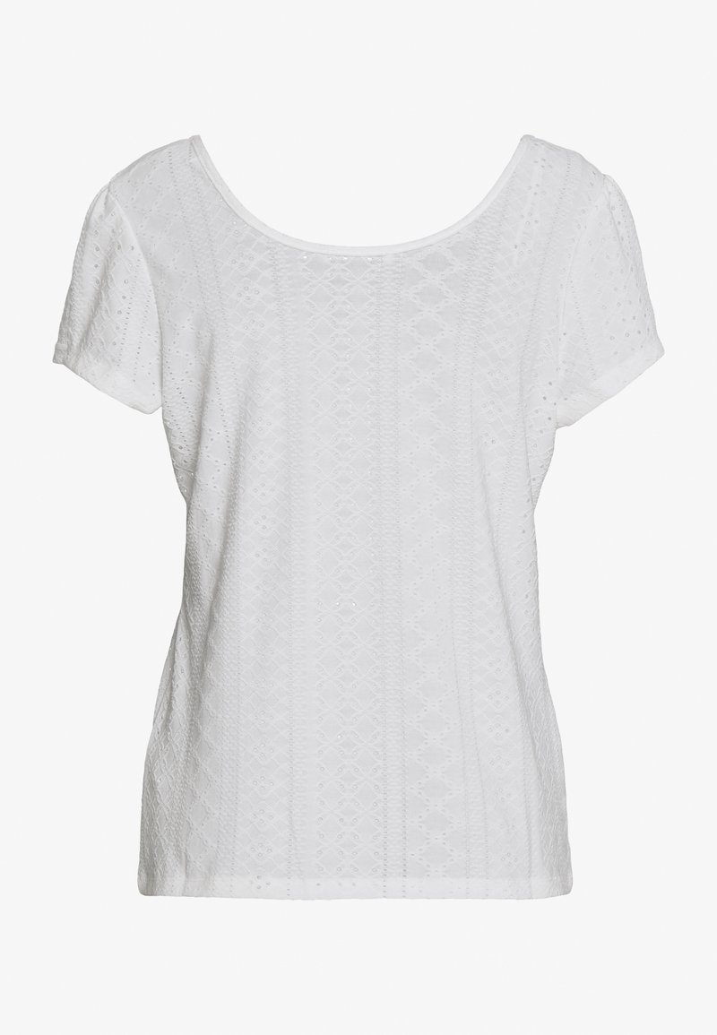 edc by Esprit POINTELLE TEE - T-shirts med print - off white