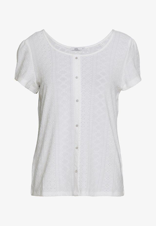 POINTELLE TEE - T-Shirt print - off white
