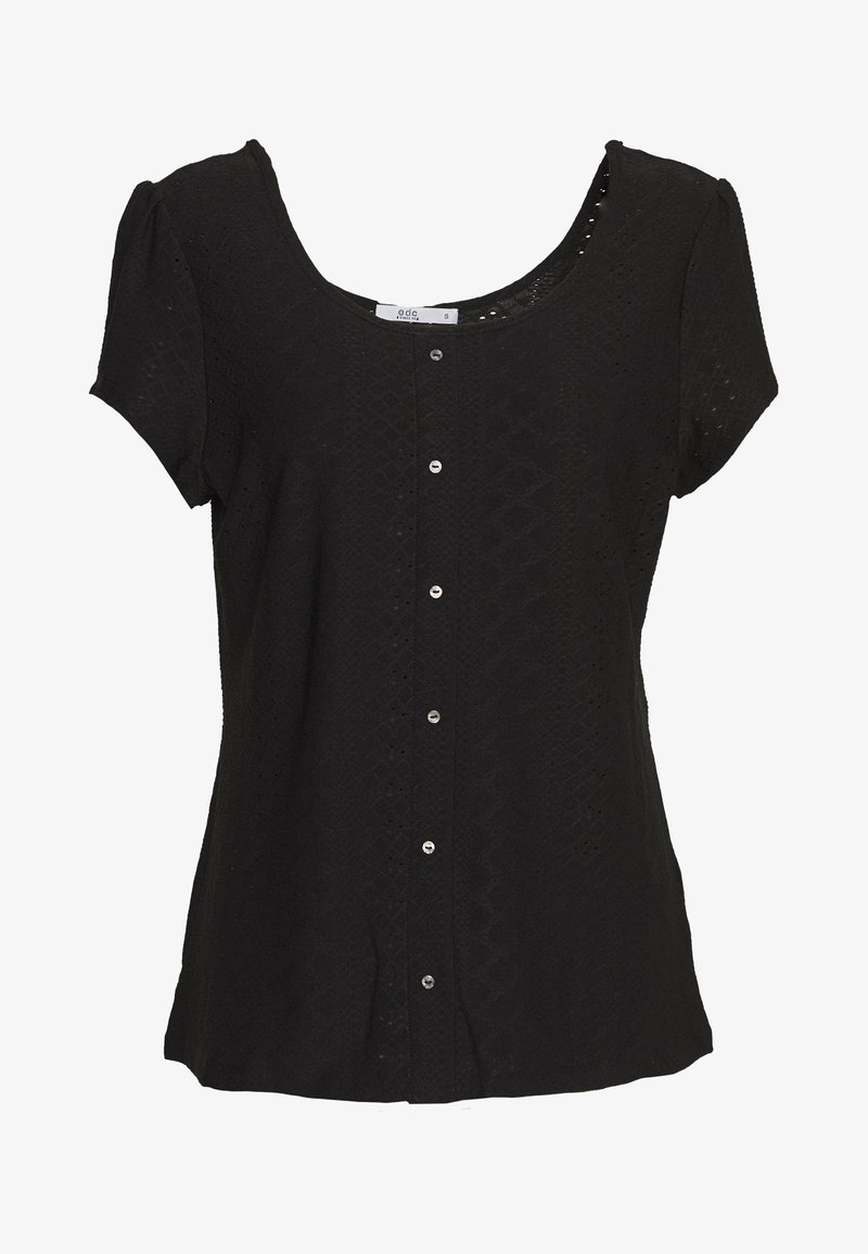 edc by Esprit - POINTELLE TEE - T-shirts med print - black