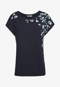 edc by Esprit - SHOULDER - T-shirt z nadrukiem - navy - 0