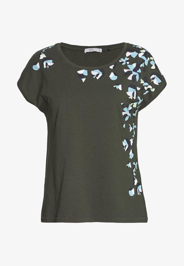 SHOULDER - T-shirt z nadrukiem - khaki green