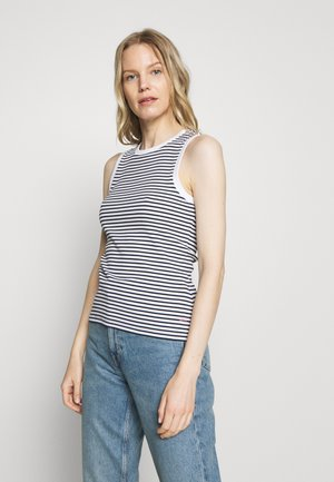 STRIPE TANK - Toppe - black