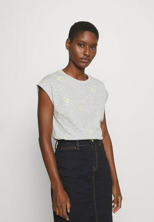 CORE EMBRO - T-shirts med print - light grey