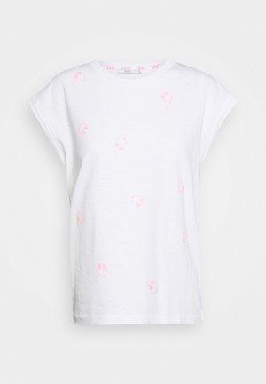 CORE EMBRO - T-shirt z nadrukiem - white