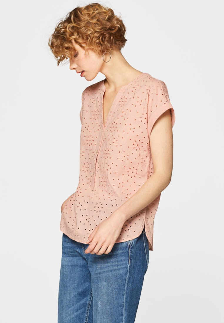 edc by Esprit - Button-down blouse - old pink