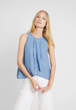 PINTUCK - Blouse - blue light wash