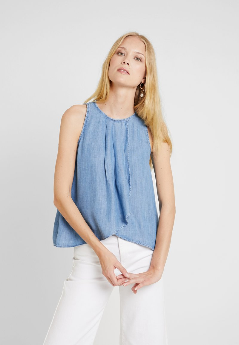 edc by Esprit - PINTUCK - Bluse - blue light wash