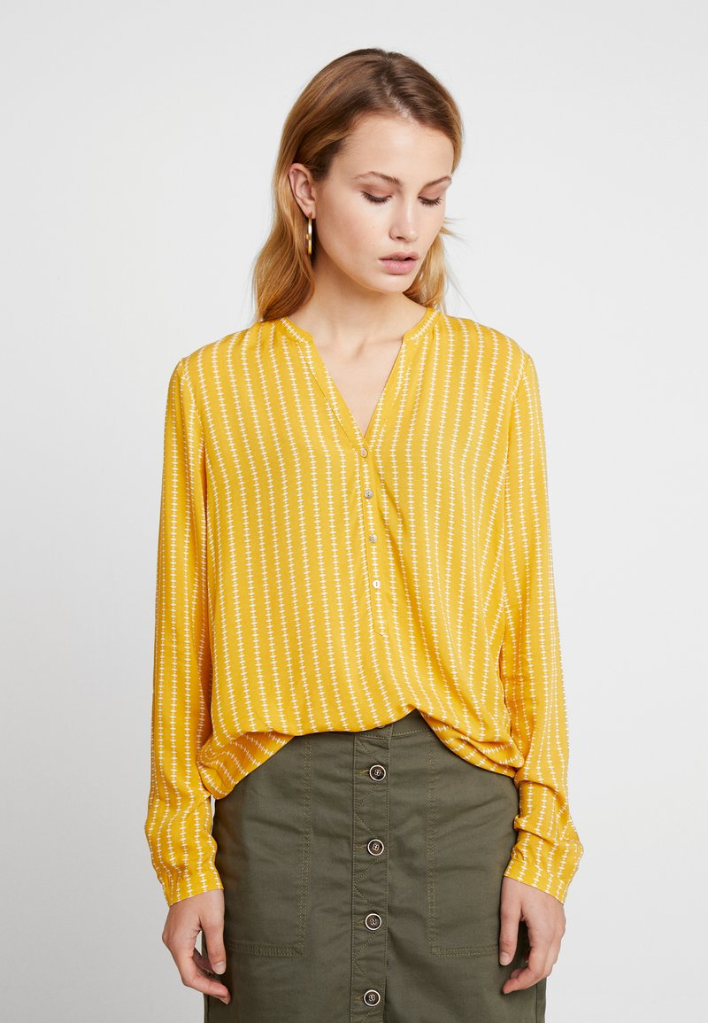 edc by Esprit - HENLEY BLOUSE - Bluse - honey yellow