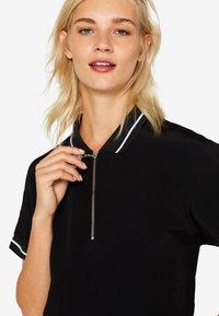 edc by Esprit - MIT ZIPPER - Poloshirt - black - 6