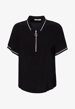 MIT ZIPPER - Poloshirt - black