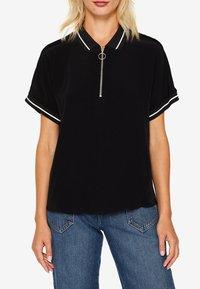 edc by Esprit - MIT ZIPPER - Poloshirt - black - 4
