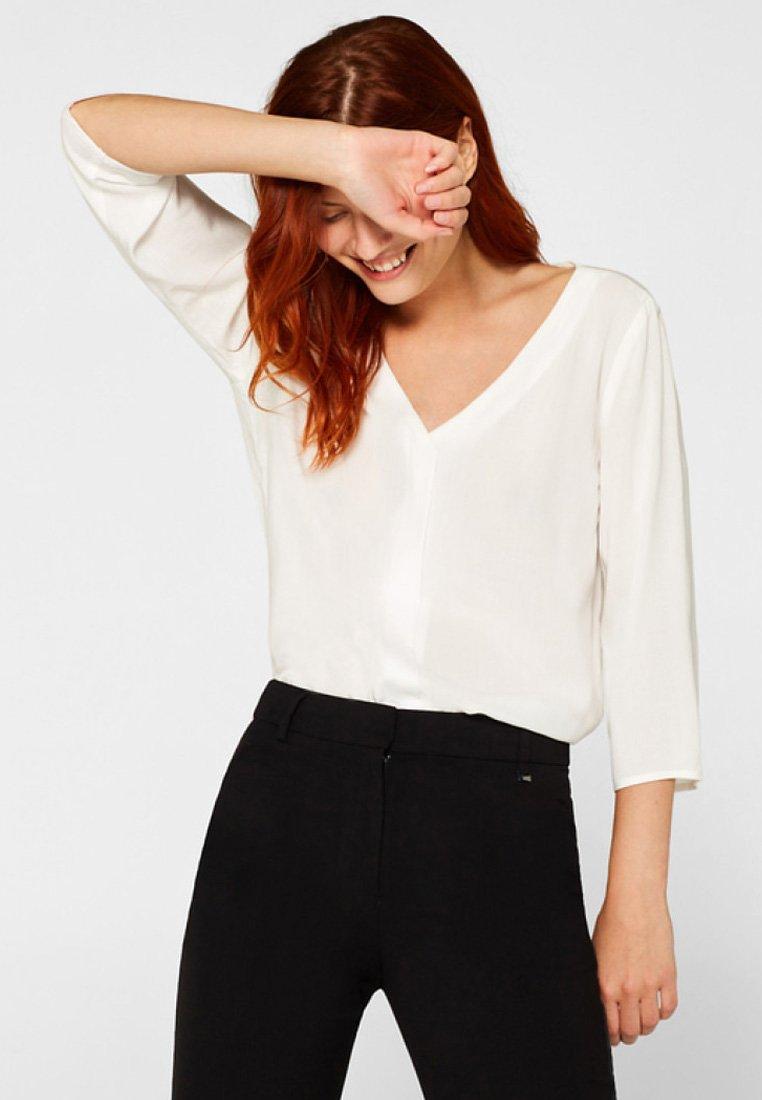 edc by Esprit - MIT FRONTBLENDE  - Bluse - off white