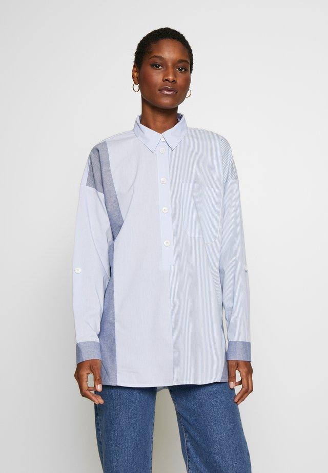 STRIPE - Button-down blouse - pastel blue