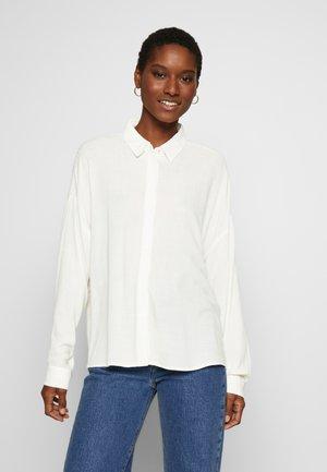 NEW SLUB - Button-down blouse - off white