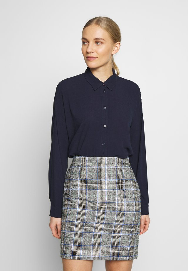 NEW SLUB - Button-down blouse - navy