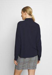 edc by Esprit - NEW SLUB - Button-down blouse - navy - 2