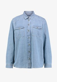 edc by Esprit - STRAIGHT FIT - Button-down blouse - blue light - 5