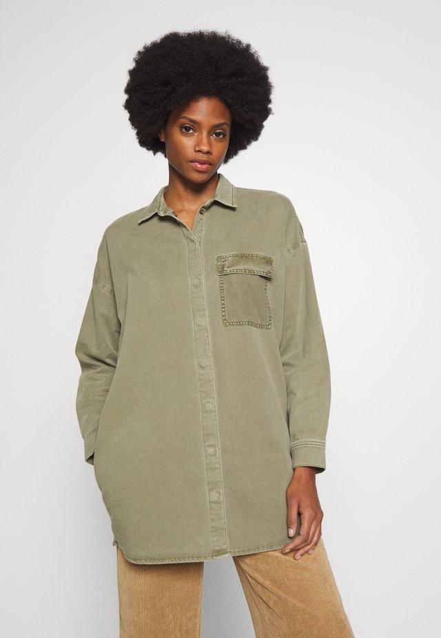 Button-down blouse - khaki green