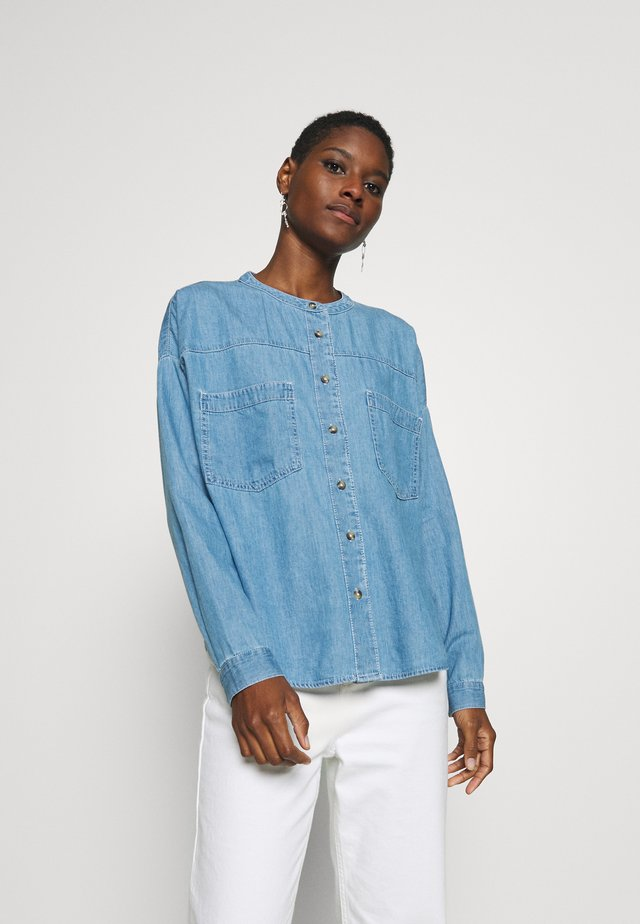BLOUSE  - Button-down blouse - blue light wash