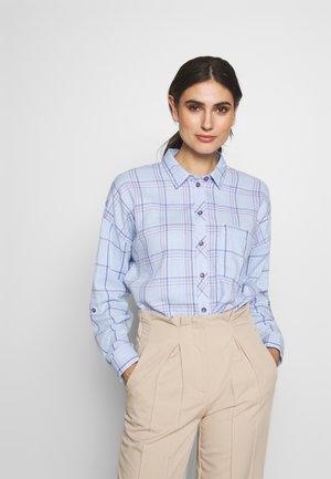 ZINDEL DOUB - Button-down blouse - blue/lavender