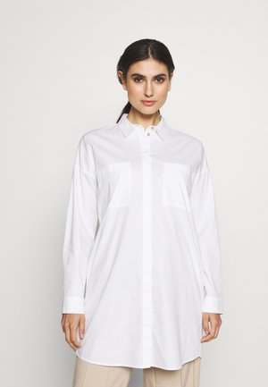LONG BLOUSE - Button-down blouse - white