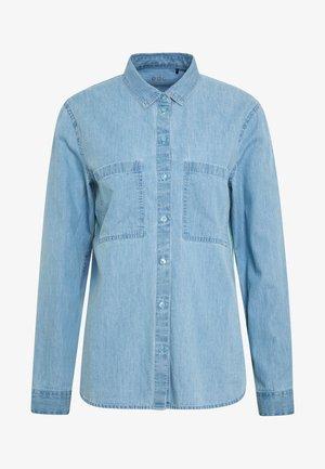 EASY BLOUSE - Button-down blouse - blue light wash