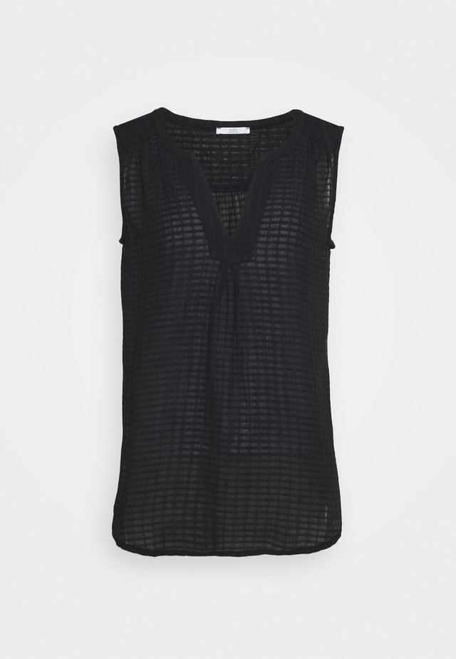 SHEER STRUC - Blouse - black