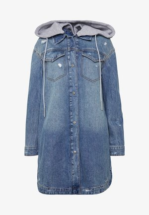 HOODED JACK - Veste en jean - blue light wash