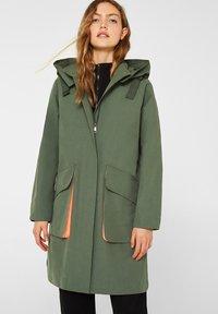 edc by Esprit - MIT NEON-FUTTER - Parka - khaki green - 0