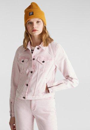 MIT WASCHUNG IM ACID-STIL - Denim jacket - blush