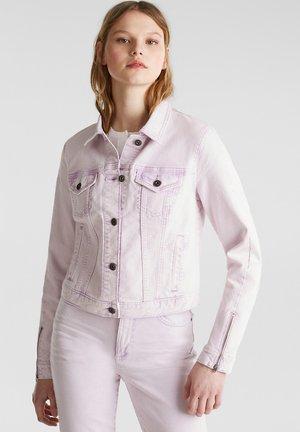 MIT WASCHUNG IM ACID-STIL - Jeansjacka - light pink