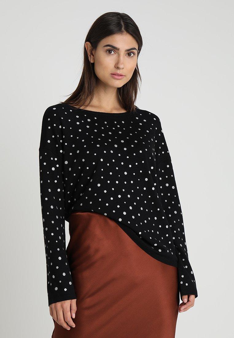 edc by Esprit - EOS FOIL PRINT - Sweter - black