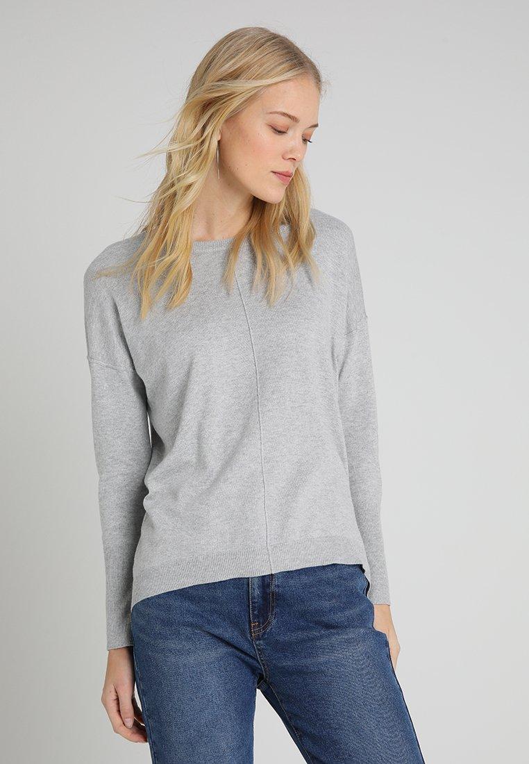 edc by Esprit - OVERS SEAM - Strickpullover - light grey