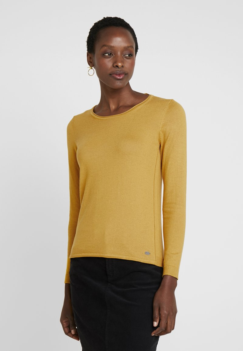 edc by Esprit - BASIC NECK - Jumper - brass yellow